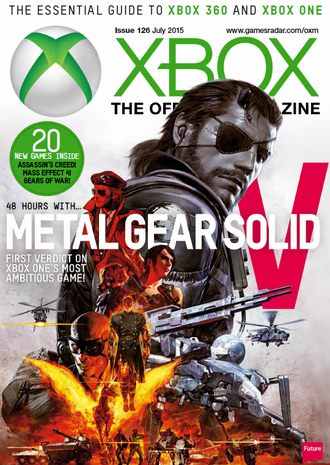 XBOX THE OFFICIAL Magazine July 2015 Metal Gear Solid V Cover ИНОСТРАННЫЕ ИГРОВЫЕ ЖУРНАЛЫ